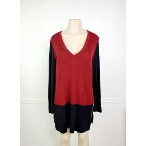 Vince Camuto Colorblock Tunic Sweater Size 1X